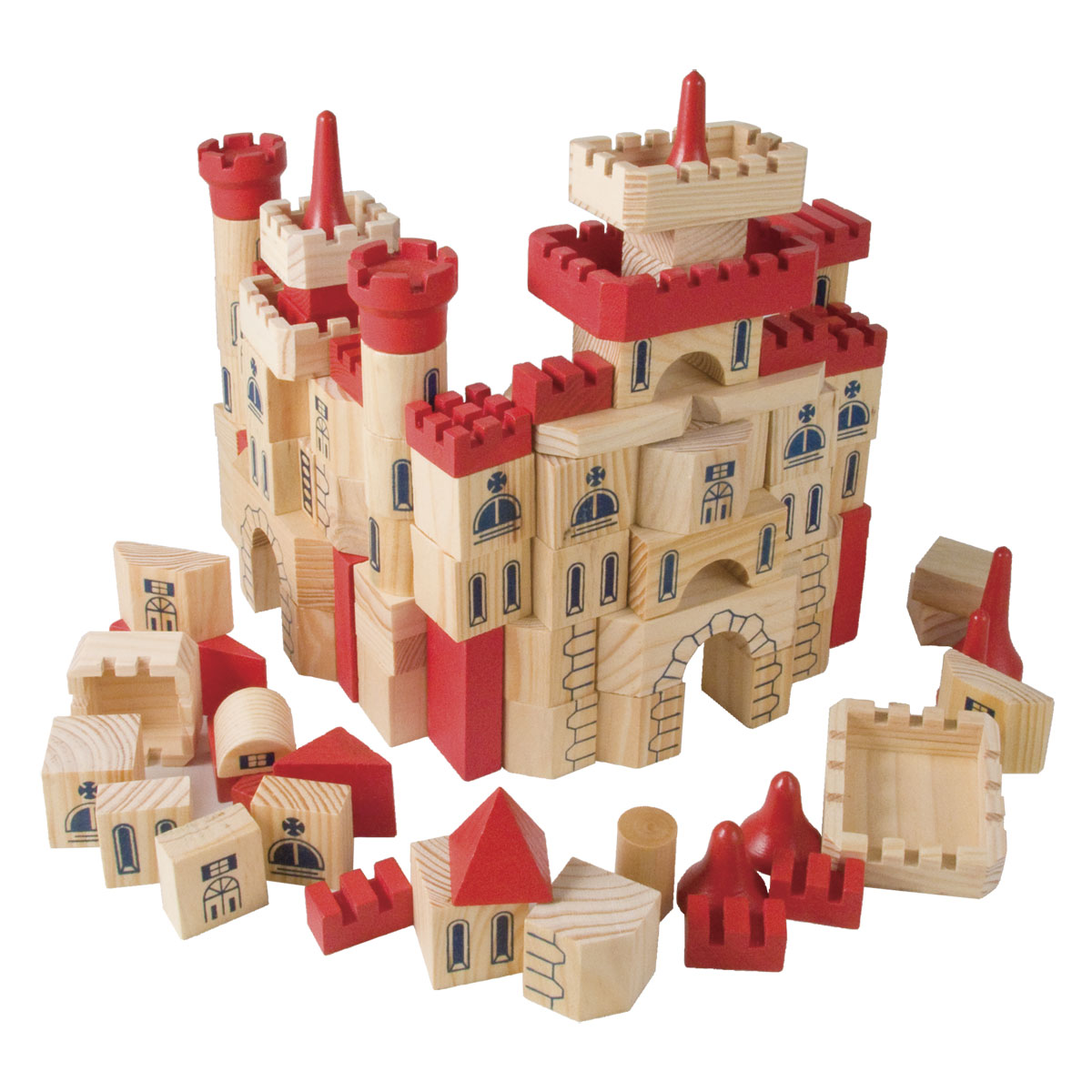 Castle Building Bricks In A Box Castle Palace Amp Pirate