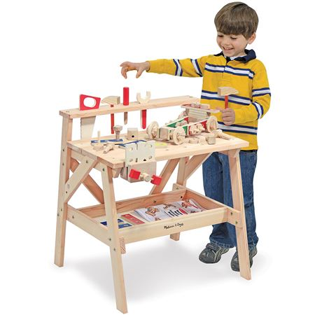 Childrens Wooden Toy Workbench Kids Tool Sets
