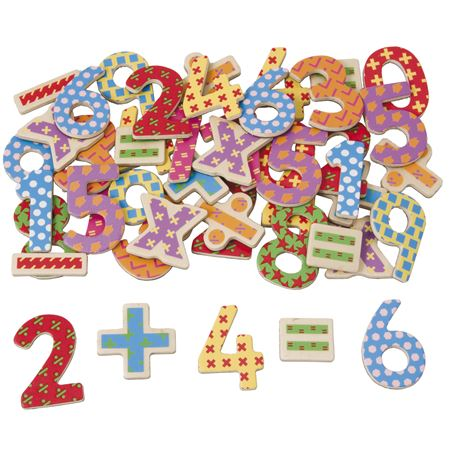 Picture of Magnetic Wooden Numbers