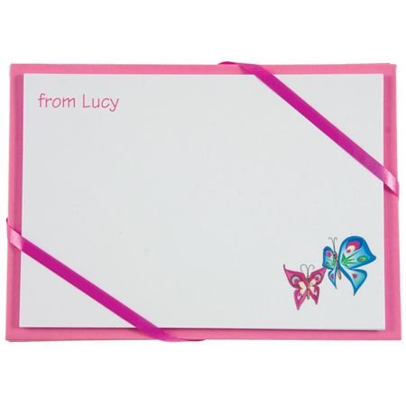 Picture of Named Cards - Butterfly (Pink)