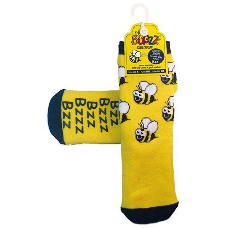 Slip Socks - Bee (Large) | Bugzz | Toys & Games