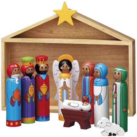 Picture of Wooden Nativity Set