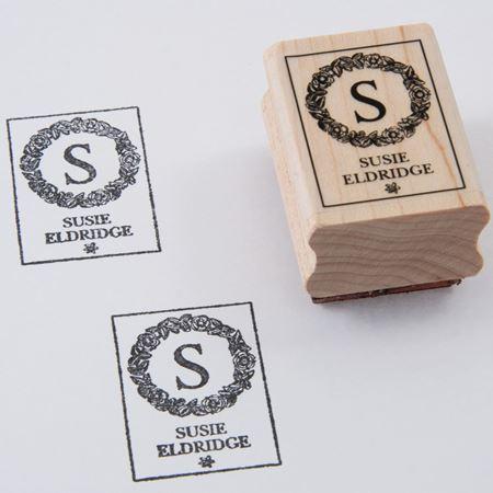 Picture of Named Rubber Stamp - Garland