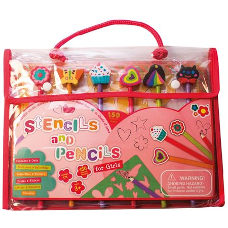 Picture of Stencils & Pencils Design Set - Pink