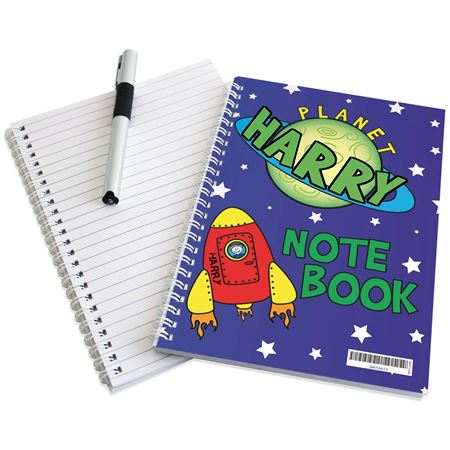 Picture of Space Notebook - Personalised