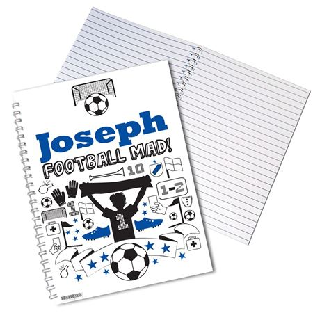 Picture of Football Notebook - Personalised