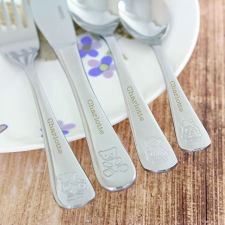 Picture of Cutlery Set - 4-Piece Teddy