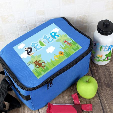 Picture of Lunch Bag & Bottle Set - Animal Letter