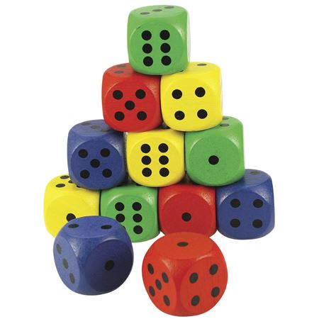 Picture of Giant Coloured Dice (set of 4)