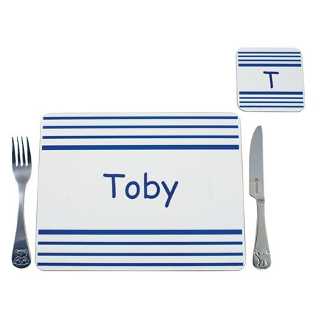 Picture of Placemat - Blue Stripe