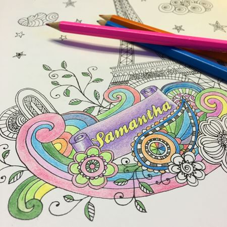 Picture of Personalised Creative Colouring Book
