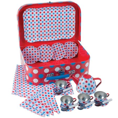 Picture of Suitcase Tea Set (Red & Blue)