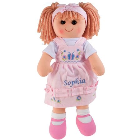 Picture of Personalised Rag Doll - Floral (Light Pink)