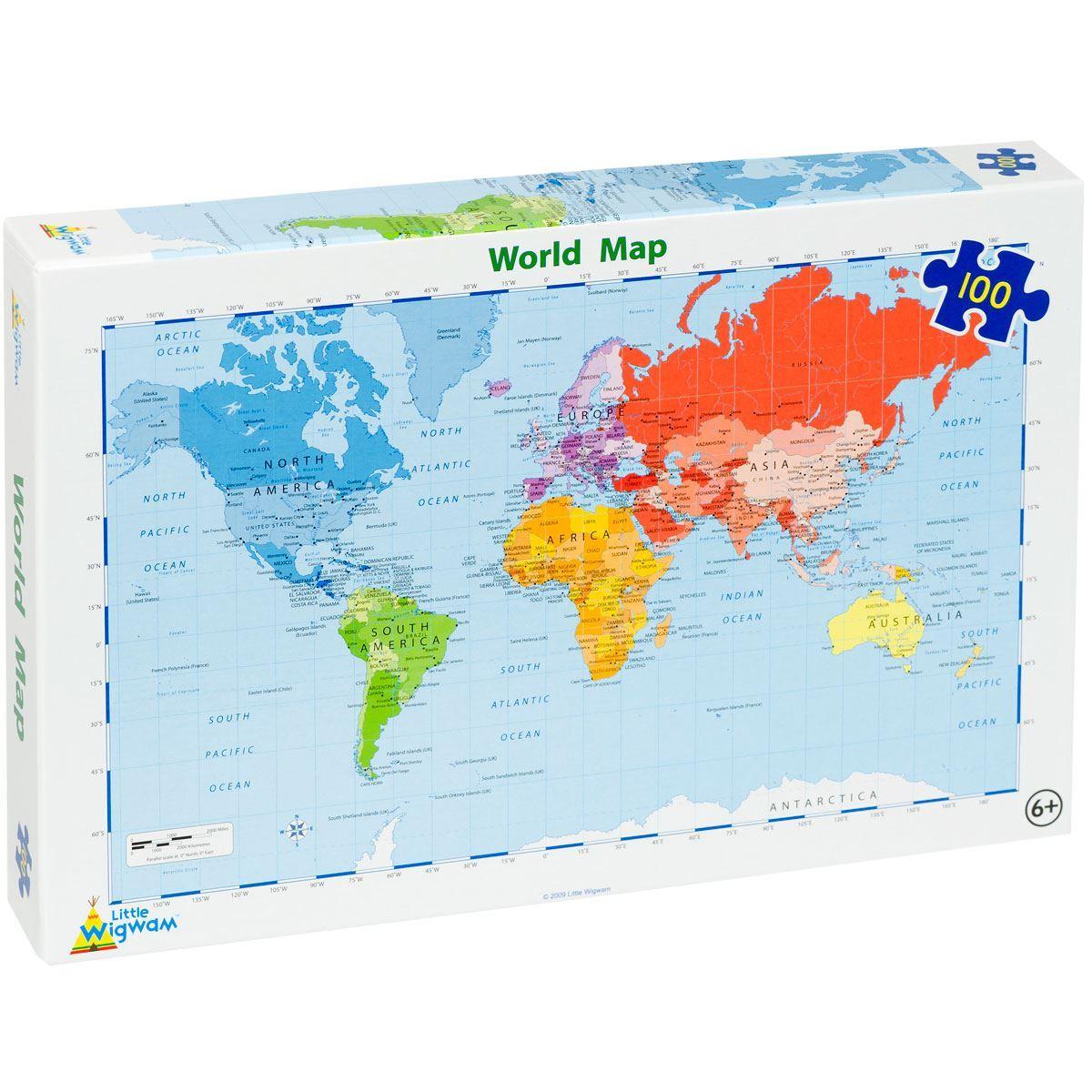Map Of Uk Jigsaw.World Map Jigsaw 100