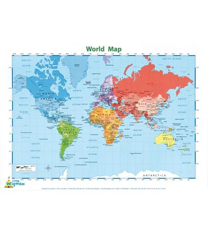Picture of Placemat - World Map