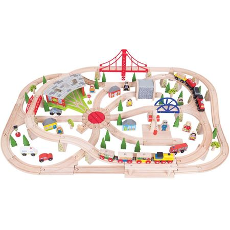 Picture of Freight Train Set (130 piece) (Bigjigs Rail BJT017)