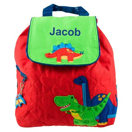 Picture of Personalised Dinosaur Quilted Backpack