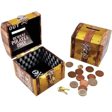 Picture of Lockable Pirate Chest Money Box