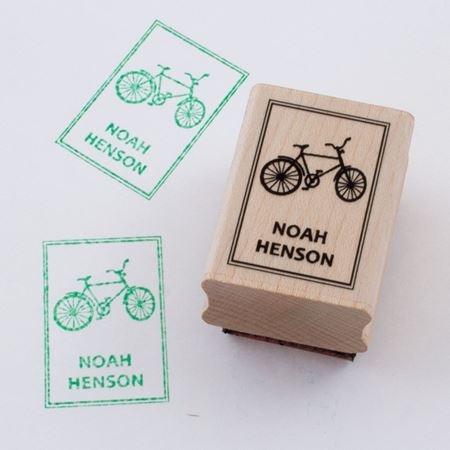 Picture of Named Rubber Stamp - Bike