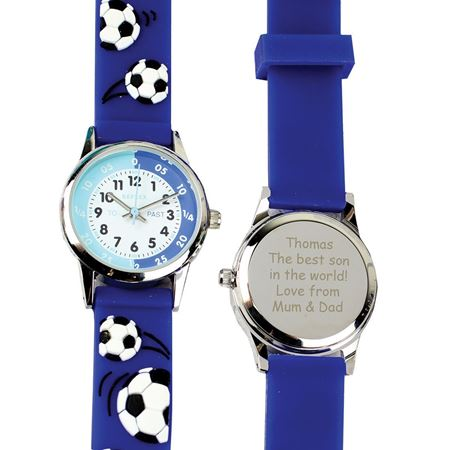 Picture of Personalised Blue Football Watch