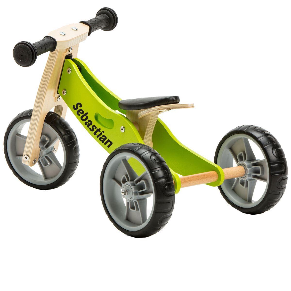 2 in 1 Bike - Green (Tricycle / Balance Bike)