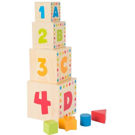Picture of Wooden ABC Stacking Cubes