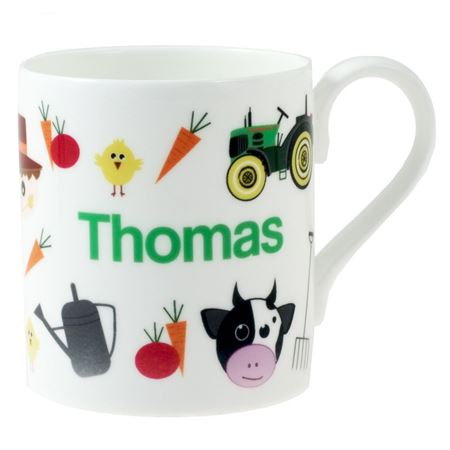 Picture of Personalised China Mug - Farmyard