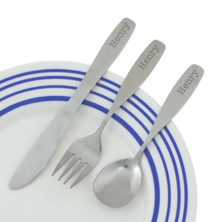 Picture of Personalised 3 Piece Cutlery Set