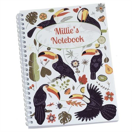 Picture of Toucans Personalised Notebook