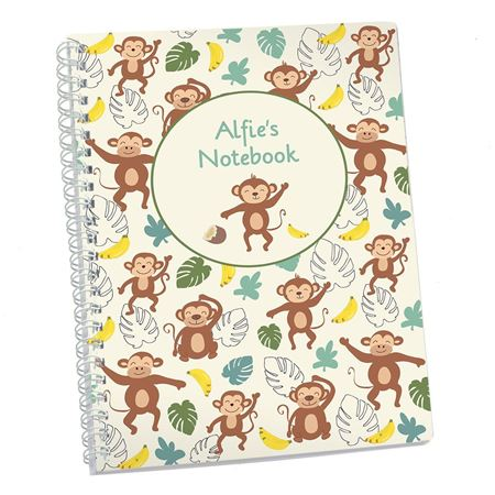 Picture of Cheeky Monkey Personalised Notebook