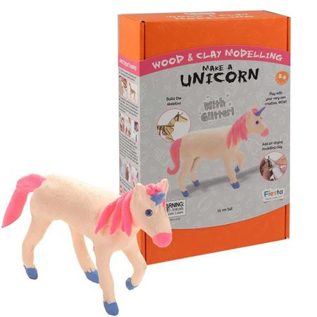 Picture of Wood & Clay Kit - Unicorn